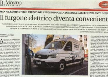 IL FURGONE ELETTRICO DIVENTA CONVENIENTE